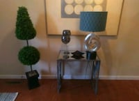 2 Modern metal and glass accent/side tables  Harrisburg, 17102