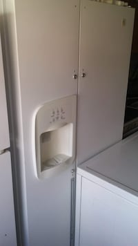 white side-by-side refrigerator with dispenser Edmonton, T5X 2X8