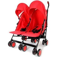 baby's black and red twin stroller Bradford, BD7