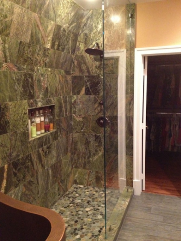 28sf Polished Rainforest Green Marble Tile 12x12