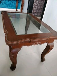brown wooden framed glass top table Mumbai, 400068