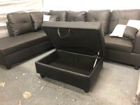 Brand New Black Leather Sectional Couch Portland, 97202