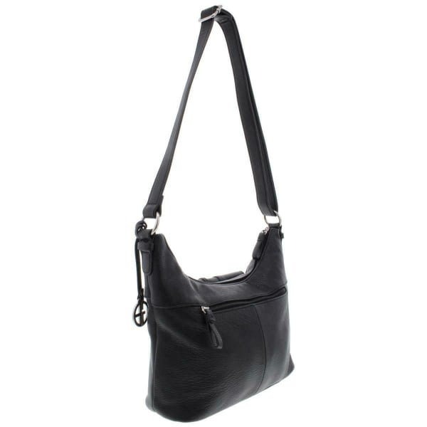 Giani Bernini Pebble Belt Medium Hobo (Black)