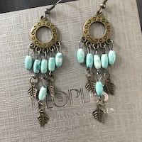 Gold and teal earrings 541 km