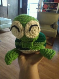 white and green turtle knitted toy Jesup, 31545
