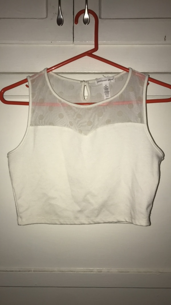 0253bbdbd18 Used brand new white dressy crop top for sale in West Covina - letgo
