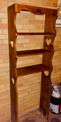 ~ Over-the-Toilet Storage Shelves Solid Wood