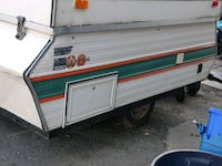 white and red camper trailer Brantford, N3S 4W5