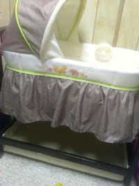 baby's white and green bassinet Nisku, T9E 7X9