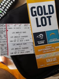 Rams vs Chargers and parking pass gold lot ... Torrance, 90501