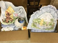 Winnie the Pooh crib set, includes lamp, curtains, sheets, bumpers, wall hanging  Saint Louis, 63129