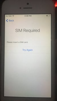 Sim required I phone 5