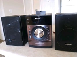 Sharp XL-DH259 Micro Component System AM/FM + Speakers & iPod Dock