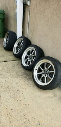 four gray 5-spoke vehicle wheels and tires Perth Amboy, 08861