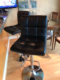 black leather padded rolling chair Vancouver, V6L