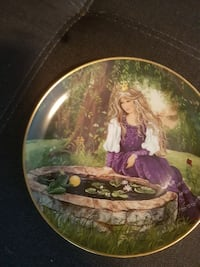 Prince Frog and woman decorative plate