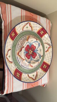 White, red, and blue floral chips and salsa bowl Mount Pleasant, 29464