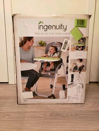 NEW & best ingenuity high chair. trio 3-in-1 New Westminster, V3L 3E3