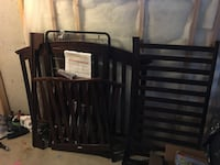Graco cherry stained crib Calgary, T3K 6K9