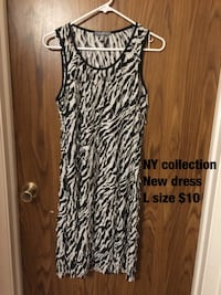 White and black ny collection sleeveless dress Alexandria, 22312