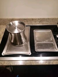 Stainless steel champagne and food tray Somerville, 02145