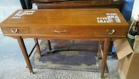 brown wooden 2-drawer table Montreal, H4A