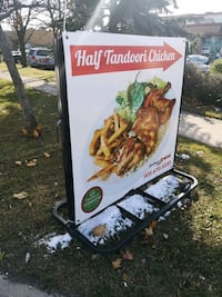 Mobile sign with letters or poster Mississauga, L4T 3R5