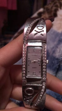 square silver analog watch with silver link bracelet Windsor, N9G 3A6