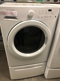 Frigidaire front load washer with pedestal