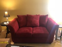 Red Microsuede Love Seat Columbia, 21044