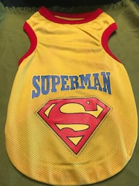 Dog tank top size large Superman