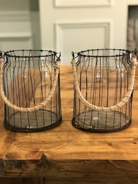 Two Glass Canisters Brand New