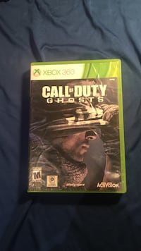 Call of Duty Ghosts Xbox 360 game case