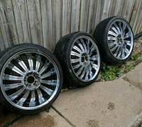 20 inch rims no center caps good tires Randallstown, 21133