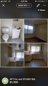 APT For rent STUDIO 1BA Bell Gardens