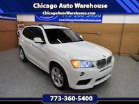2014 BMW X3 xDrive35i - Only 50k Miles  Automatic, AWD, Navigation, Panoramic Sunroof, Back up camera, M- Sport package, heated front & rear seats, Led headlights & taillights, leather interior with memory seats, heated steering wheel, premium sound syste Chicago, 60625