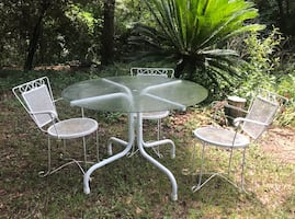 Indoor/outdoor Table and 3 Small Chairs