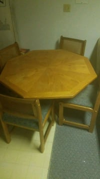 rectangular brown wooden table with four chairs dining set Burnaby, V5J 4E6
