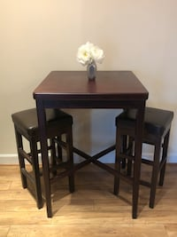 Wooden Pub Table Set - great condition