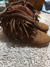 pair of brown suede fringe boots Westminster, 21157