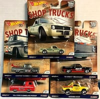 Hot Wheels 50th Anniversary Shop Trucks Set of 5 Car Culture 2018 Saskatoon, S7K 6P9