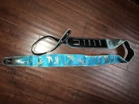 Guitar strap Leather/polyester dragonfly design Chatsworth, 91311