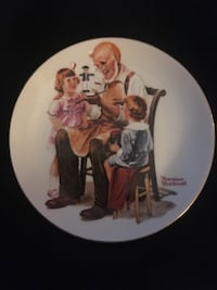 """Norman Rockwell 4"""" plate , V2R"""