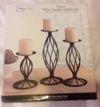 Mainstays Wrought Iron Candle Holders Set of Three Still in Box Tampa, 33612