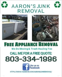 FREE APPLIANCE REMOVAL SAME DAY SERVICE 24/7  Aiken, 29803