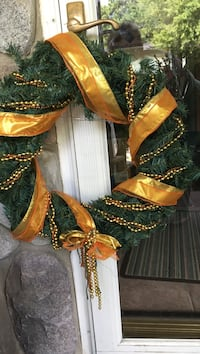 green and brown wreath Fowlerville, 48836