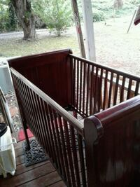 Solid wood baby bed needs couple bolts and screws Knoxville