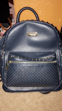 Navy blue leather studded crossbody Bebe backpack  American Canyon, 94503