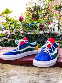 New Vans Yacht Club Sz 10 Old Skool Canvas Suede Skate Shoes Chicago, 60634