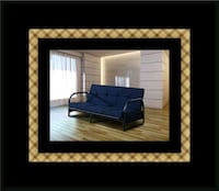 Black futon frame with mattress Lanham, 20706